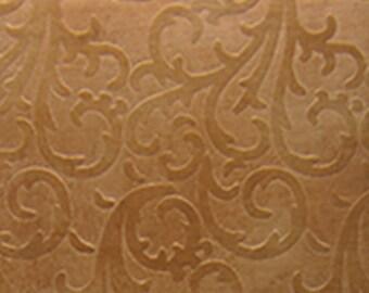 "Patterned Copper Sheet ""Vines"" 2"" x 6"" (choose 18 thru 24ga)  (CSP35XX)"