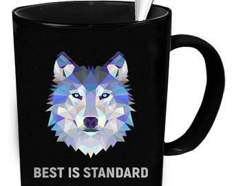 Wolf coffee mug. Tea or coffee cute and funny gift idea 11 oz ceramic mugs