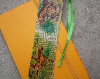 Country-style horses recycled bookmark