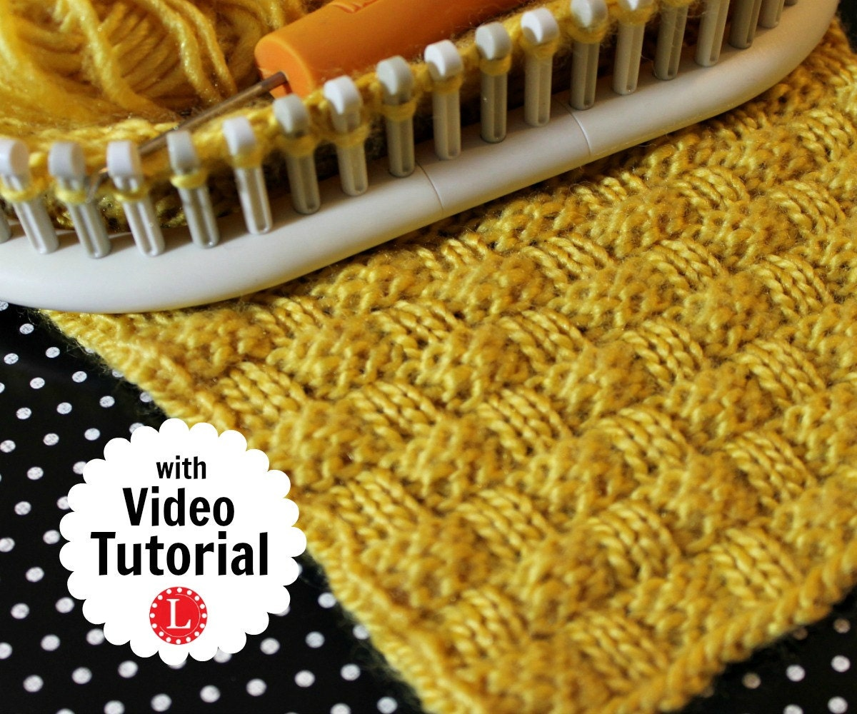 Loom Knitting Stitch PATTERNs The Basket Weave Stitch with