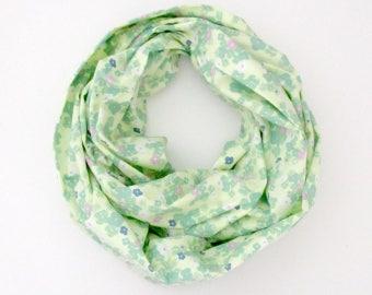 Foulard - printemps fleurs roses bleus verts jaune Floral - écharpe Tube mode en coton