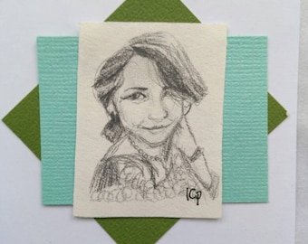 Smile - Portrait in Pencil - Original Art