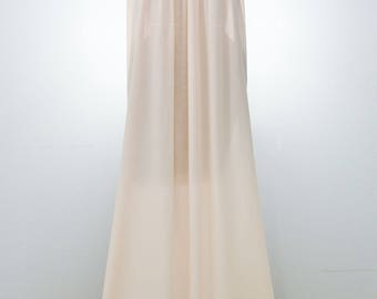 Barbizon Nightgown Pink Floor Length Lace Bodice Yvette Crepe Open Bust