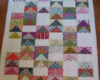 Beach Road Baby Girl Quilt - Jen Kingwell - Flying Geese - Colorful and Fun