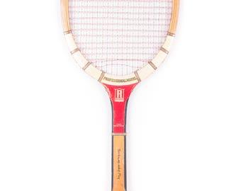 Vintage Wooden Tennis Racquet / GEO A REACH Professional Model Tennis Racket / Antique Wood Tennis Racket Antique Tennis Racket Sports Decor
