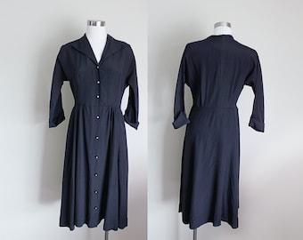 1950s Black Dress   Black Shirtwaist Dress   Little Black Dress   New Look Dress   Medium