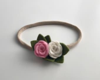 Tiny flower Cluster   Nylon Headband