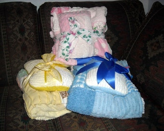 Build Your Own Stroller Set made from vintage chenille bedspread
