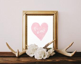 DIGITAL Ti Amo Italian Nursery Print, I Love You Nursery Wall Decor, Italian Pink Heart Girl Nursery, Pink Printable Wall Art - ANY SIZE