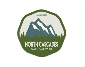 North Cascades National Park Sticker | National Park Decal | Multiple Sizes Available