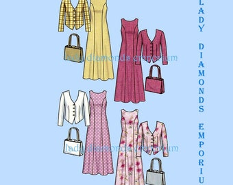 Simplicity 5637 Womens Classy Princess Seam Dress with Jacket & Purse size 8 10 12 14 16 18 Easy Petite to Plus Size Sewing Pattern Uncut FF