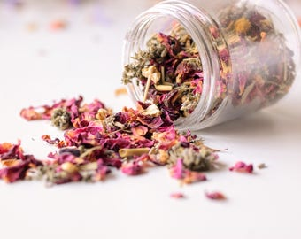 Rose petal and herbal facial steam