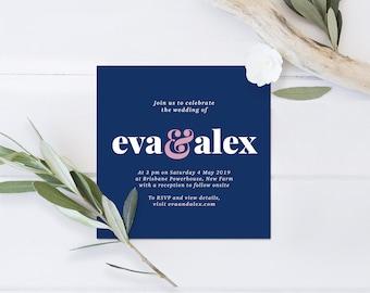 Bold wedding invitation