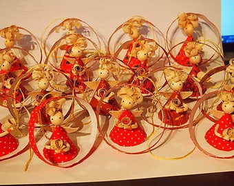 Christmas decoration from corn husk