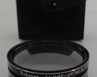 Camera Lens , Close Up Lens , Rokunar Close Up Lens 1,2,3 / Model 43S / W/Case Japan