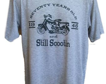 Personalized Customized Still Scootin Shirt - Vintage Scooter Shirt