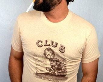 RARE Original Vintage 70s 80s Club Rolling Papers Cigarette Tshirt  Tee Shirt