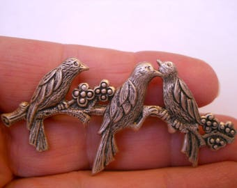 Banana Bob silver ox bird pin