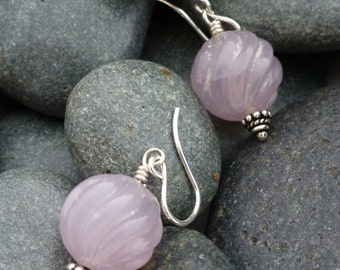 Pink Cape Amethyst Earrings