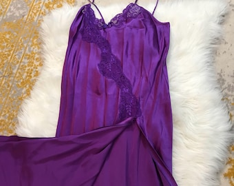 Royal Purple Nightgown and Robe Set