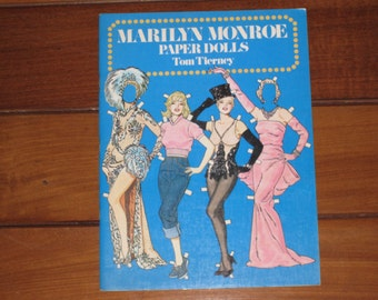 1979 Marilyn Monroe Paper Doll Book by Tom Tierney (Uncut)