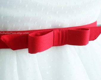 red bow belt , custom made belt, red belt, retro belt, vintage inpired belt , plus size belts  - custom SIZES and COLORS available