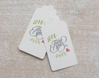 "10 handmade gift tag ""Thank you"""
