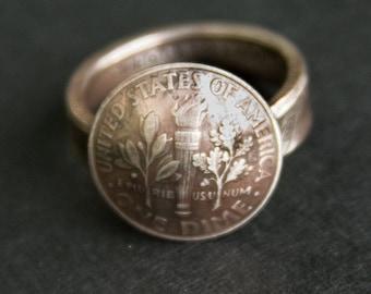 Dime-n-Ring Antique Patina