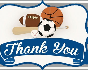 Baby Shower Thank You Cards, Sport Thank you