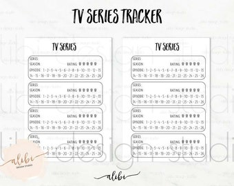 Tv Shows, TV Show Tracker, A5 Planner Inserts, Tv Tracker, Tv Show Manager, Tv Shows Organizer, Printable Planner, A5 Insert, Tv Series