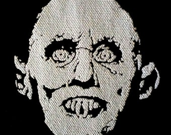 Barlow / Salem's Lot - PATCH canvas screen print HORROR - Stephen King vampire