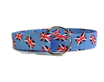 Union Jack Fabric Belt