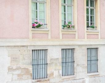 Pink Paris Floral Balcony Print