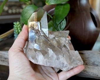 1lb. Chunky XL Smoky Quartz Point, Natural Quartz Cluster, Smoky Crystal Point, Wiccan Altar Supplies, Natural Crystal, Wicca Healing Stone