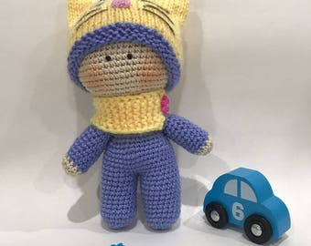 Hand made knitted amigurumi Doll- Super Cute - Undressable