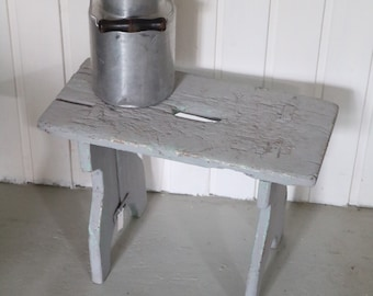 grey vintage foot rest / foot stool