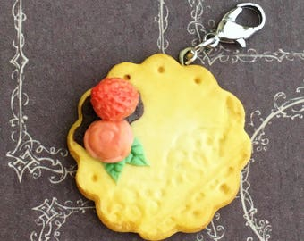 Rose and Strawberry Cookie Charm
