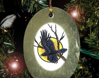 RavenTotem Animal Yule, Holiday, Christmas Ornament