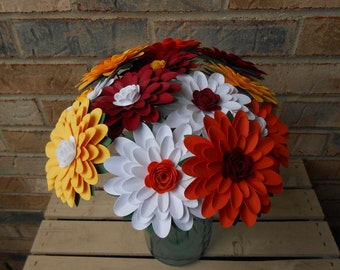 Gerbera Daisy Bouquet, YOUR CHOICE of COLORS. Paper Flowers. Centerpiece, Wedding, Anniversary, Birthday, Mother's Day, Gift