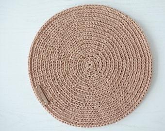 Creme Placemats, Set of Crochet placemats, Table placemats, Table decoration, Crochet Kitchen Placemats