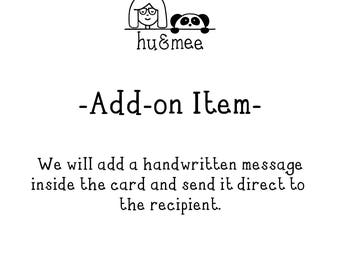 Add-on Item - add a handwritten message and send direct to the recipient