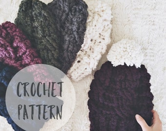 Crochet Cable Hat Pattern | The Evergreen Hat Crochet Pattern | Crochet Pattern. Crochet Hat. DIY Hat Pattern.  Crochet Hat Pattern.