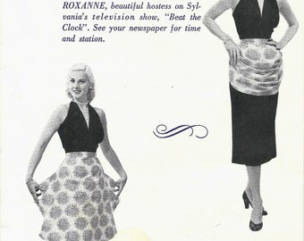 1950s Modes Royale Women's Roxanne Hostess Apron Sewing Pattern UNCUT