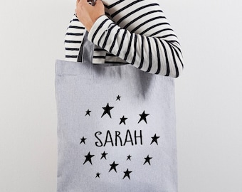 Personalised tote bag gift for her, book Bag, mothers day idea, Shopping Bag, Personalized shopping bag, Gifts for Women, reuseable, cotton