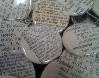 Dictionnaire Vintage 40 Custom Buttons - vous choisissez les mots