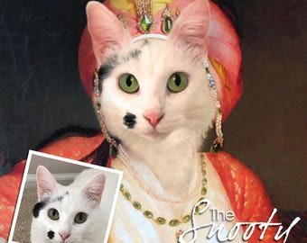 CAT PORTRAIT –Cat Print–Cat Portrait Custom – Pet Portraits – Custom Pet Portraits –Cat Art -Pet Portraits From Photo - Custom Cat Portraits