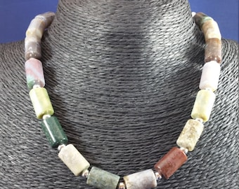 Jasper Sterling Silver Choker Necklace