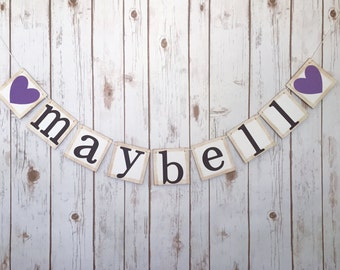 Custom name banner, baby name banner, personalized name banner, custom name sign, baby name sign, baby shower banner,baby shower decorations