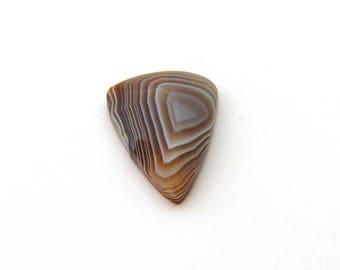 Banded Botswana Agate Designer Cabochon Gemstone 16.5x21.6x4.9 mm 11.9 carats Free Shipping