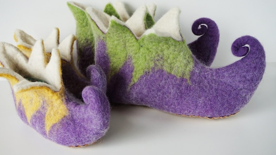 green family slippers Elf Elf slippers slippers set adult purple booties Fairy kid Elf and slippers felted slippers wool felted A6qnBUqxw